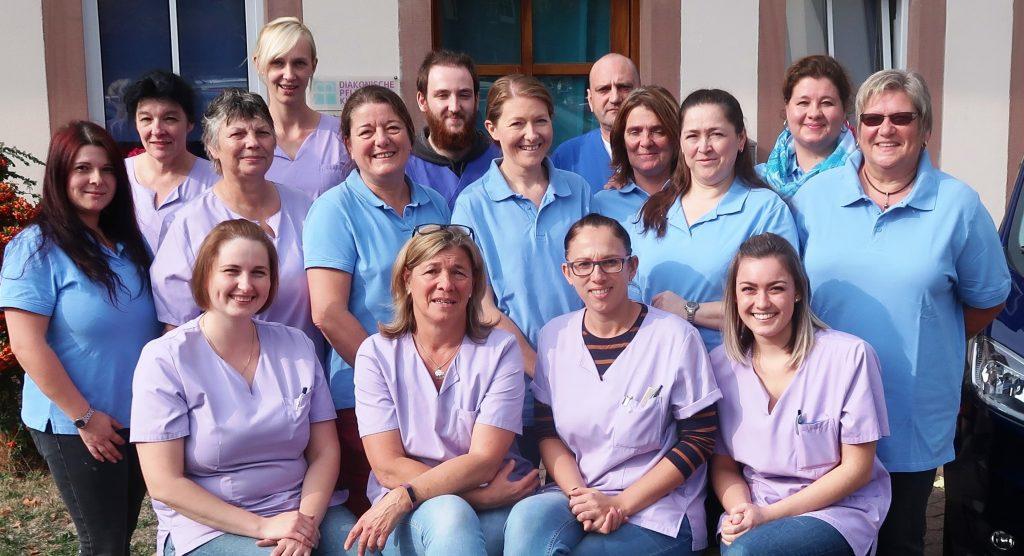 Teil des Teams der Diakonischen Pflege Kinzigtal im Oktober 2018